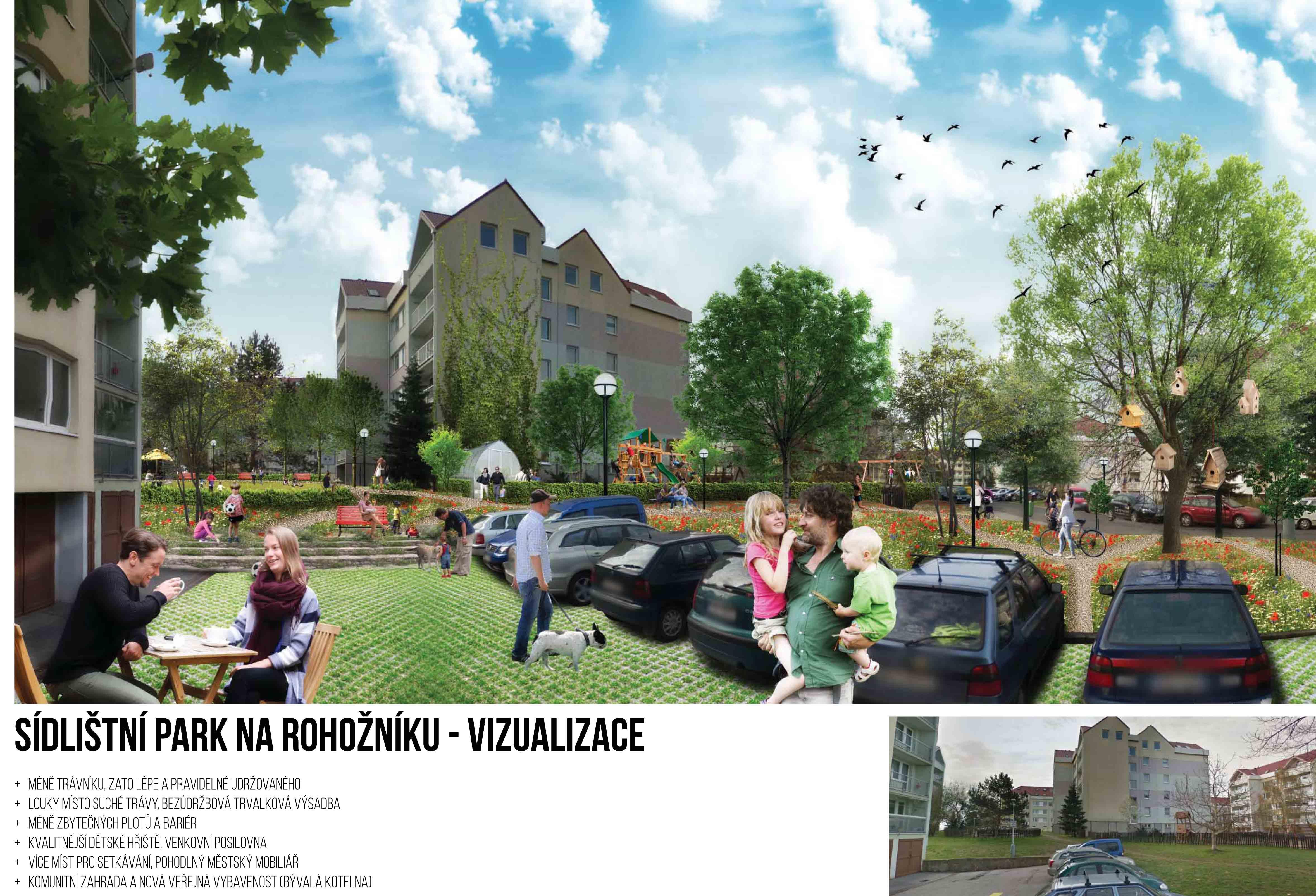 Sídlištní park na Rohožníku - vizualizace