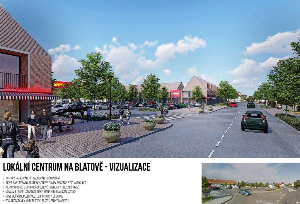 Lokální centrum na Blatově, Praha 21, vizualizace, Piráti a STAN pro Újezd, Praha 21